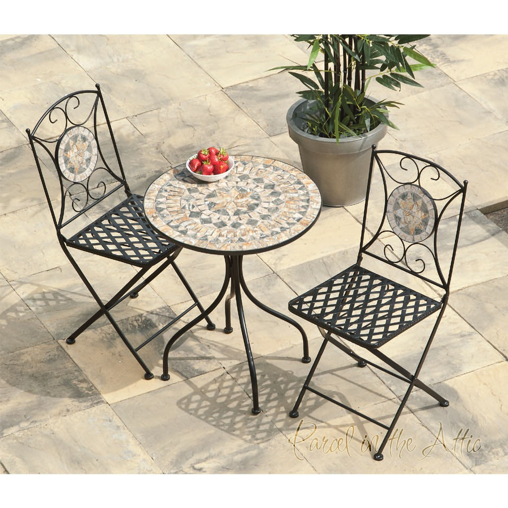 Turin Mosaic Bistro Set Table Amp 2 Chairs