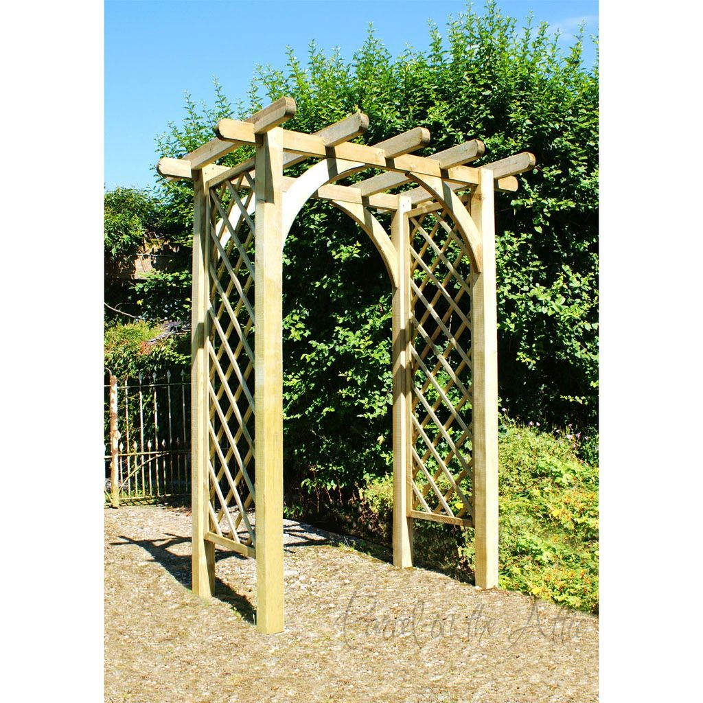 Perfect Flat Top Garden Arch Trellis. Loading Zoom