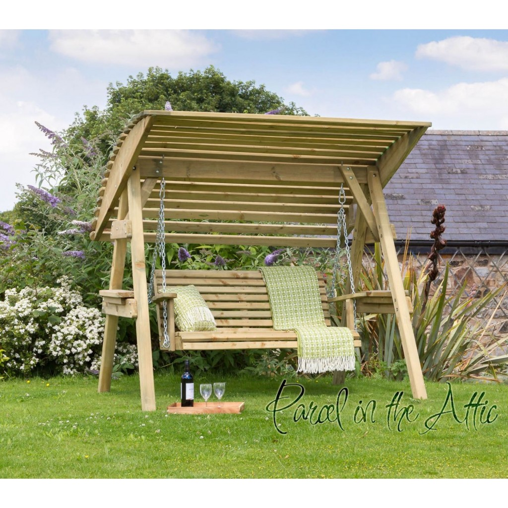 2 Seat Wooden Garden Swing Chair Seat Hammock Bench ...