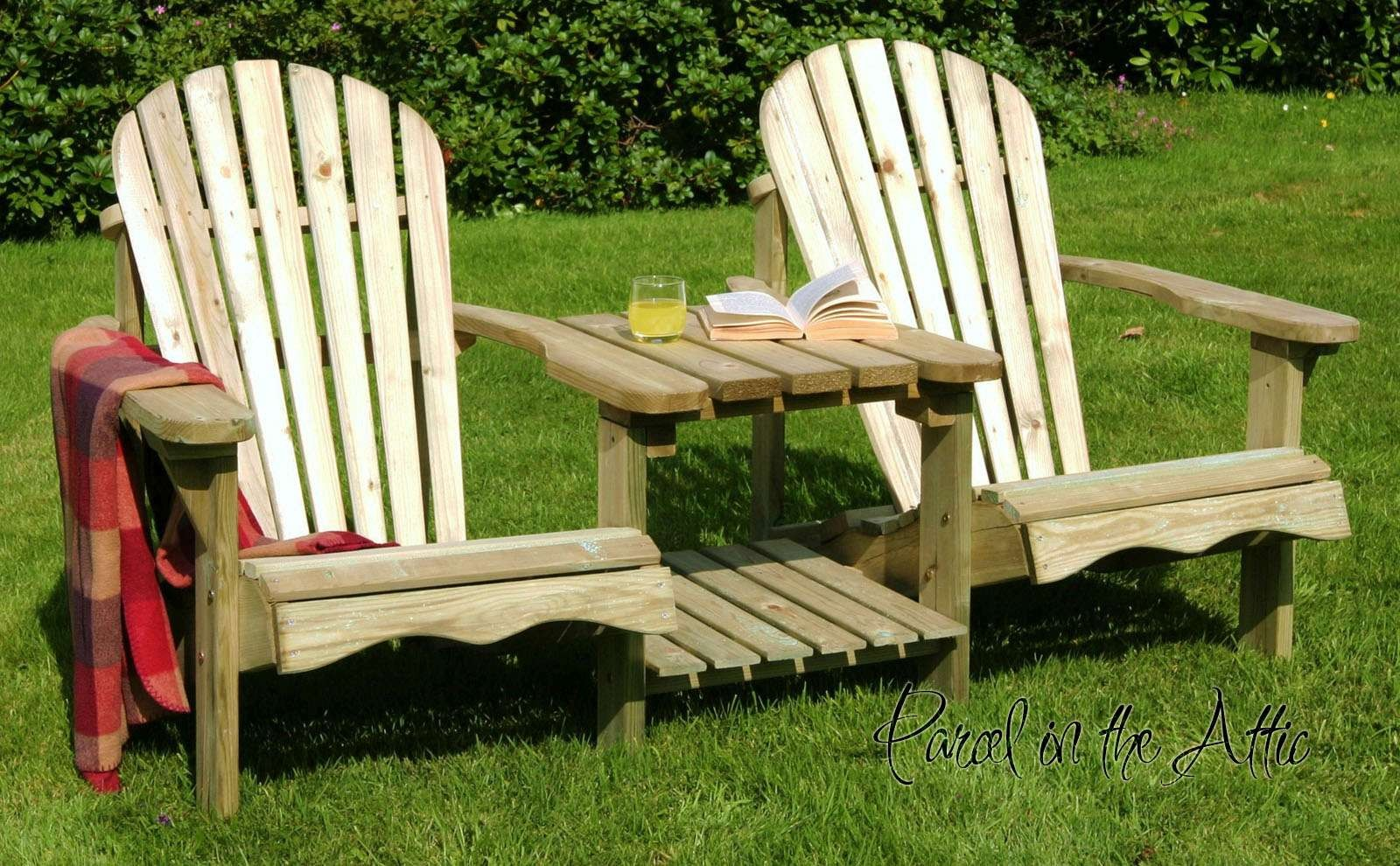 Solid Wood Adirondack Double Chair   Parcel In The Attic   Lifestyle, Home,  Living